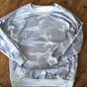 Camo Long Sleeve Sweater